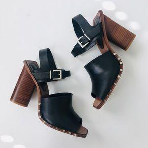 Zara studded block heels